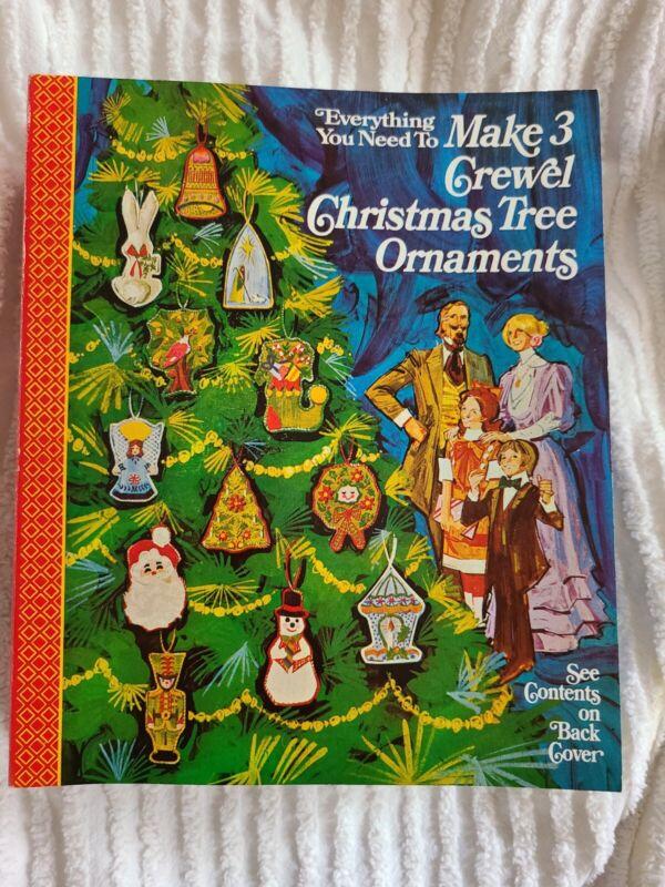 Wrights Christmas ornament Needlework Crewel Kit.  Vintage, unused complete.