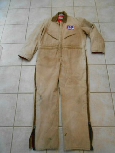 VINTAGE UNION PACIFIC RAILROAD WALLS BLIZZARD PRUF QUILTED INSULATED COVERALLS