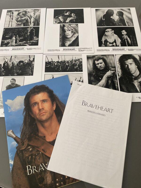 Braveheart Original Press Kit 1995 Film Memorabilia