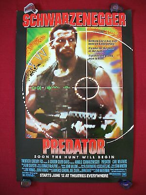 PREDATOR *1987 ORIGINAL MOVIE POSTER 1SH ROLLED ADVANCE SCHWARZENEGGER HALLOWEEN