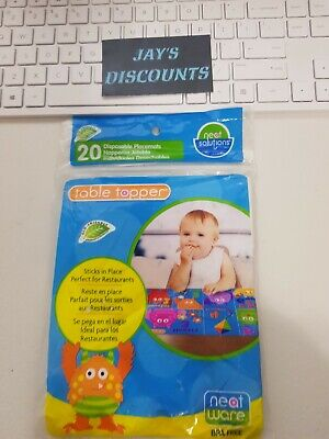 Neat Solutions baby toddler Table Topper Disposable Adhesive Placemat Combo