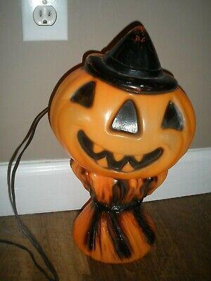 Vintage Empire Halloween Jack O Lantern Witch Hat Haystack Pumpkin Blow Mold '69
