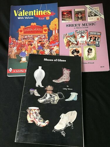SHEET MUSIC * GLASS SHOES *  VALENTINES * PB Collectors / Price Guide *3*