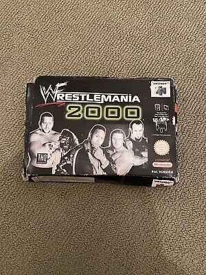 VINTAGE 1999 NINTENDO 64 N64 WWF WRESTLING WRESTLEMANIA 2000 GAME PAL BOXED