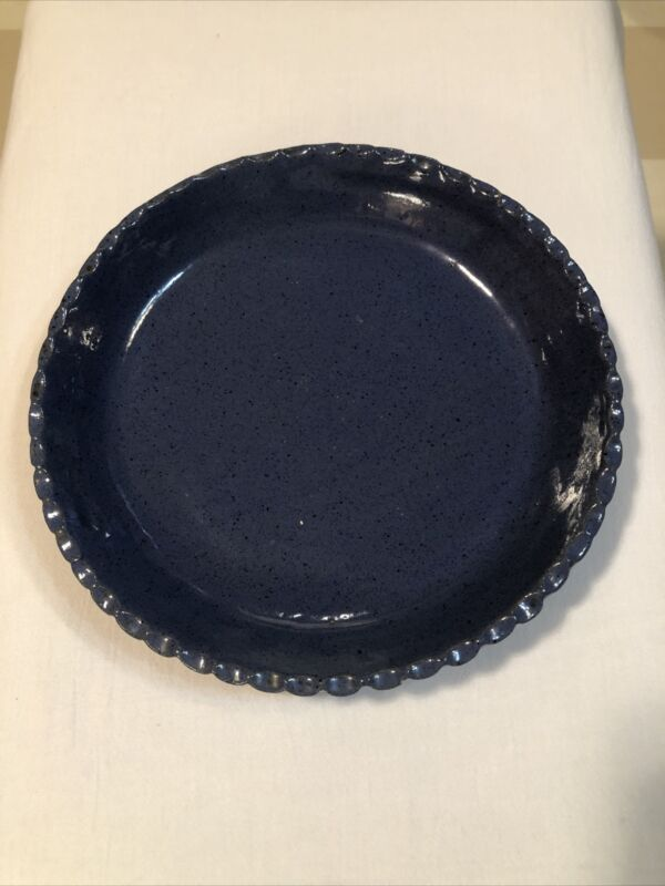 Bybee Pottery Kentucky Cornelison Blue Pie Dish 10""