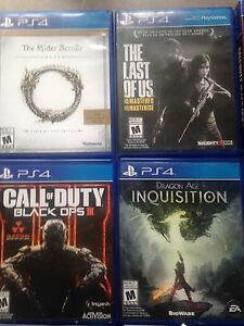 PS4 games 20$ each