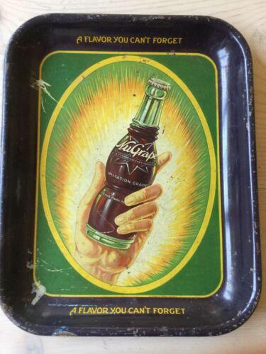 RARE NuGrape soda metal advertising tray