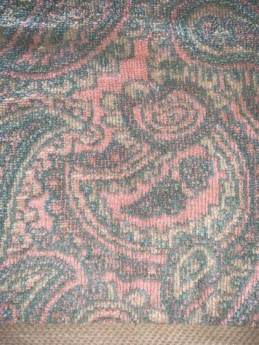 Vtg Royal Velvet Hand Towel Pink Blue Paisley 100% Cotton USA Fieldcrest