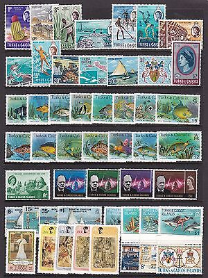 TURKS AND CAICOS MINT QEII COLLECTION 109 STAMPS & 6 M/S INC SCARCE WHALES SET