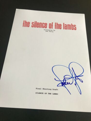 JODIE FOSTER SIGNED AUTOGRAPH MOVIE SCRIPT SILENCE OF THE LAMBS COA AUTO RARE X1
