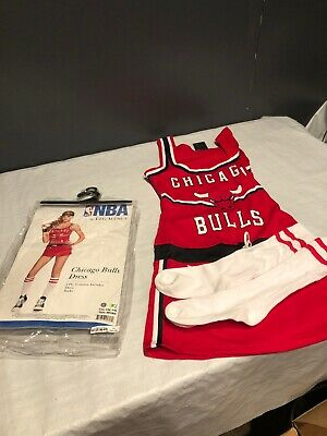 Nba Halloween Costumes (NBA CHICAGO BULLS DRESS HALLOWEEN COSTUME WITH SOCKS LEG AVENUE Pre Owned)