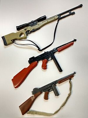 plastic toy long guns for (1/6) action figures - lot of 3 - high quality! (Plastic Toy Guns)