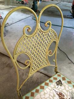 OLD CAST IRON MOSAIC OUTDOOR TABLE AND CHAIRS North Strathfield Canada Bay Area Preview