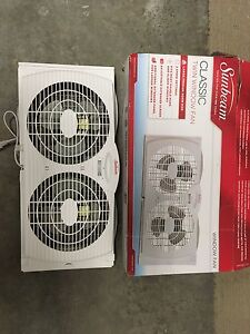 Brand new Sunbeam twin window fan
