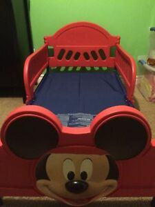Mickey Mouse toddler bed w/mattress