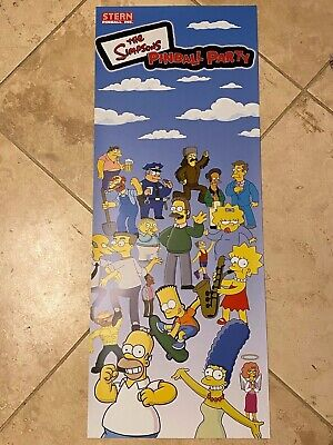 The Simpsons Pinball Party Stern Pinball Vinyl Banner 13x33 Inches