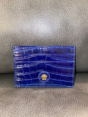 Versace Blue Medusa Credit Card Holder Case Wallet NWT New With Tags