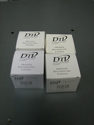 Lot Of 4 Dark-to-light Outdoor Photoelectric Control 105-305 Vac Dx-124-12a