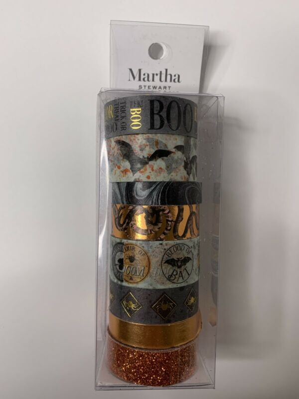 New! Martha Stewart Craft Halloween 8pk Washi Crafting Tape Set
