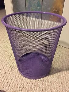 Purple garbage can!