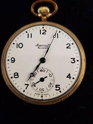 1917 Ingersoll Reliance Open Face Pocket Watch
