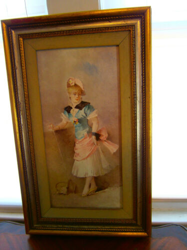 Beautiful Signed Painting on Porcelain - Nicely Framed