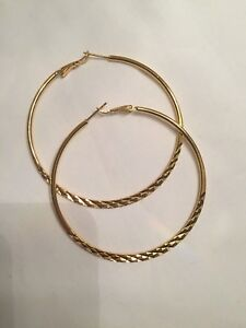 High quality gold plated hoop earrings