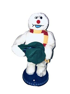 """Gemmy Frosty Snowman Christmas Animated Dancing Spinning Snowflake 18"""""""