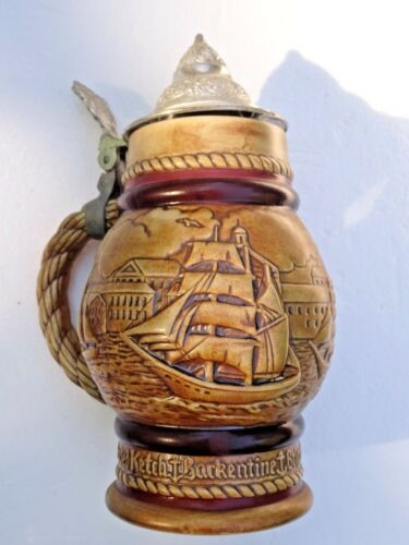 Avon 1977 Beer Stein Occupational Tall Ships, Clipper Ship Sailing Vessels