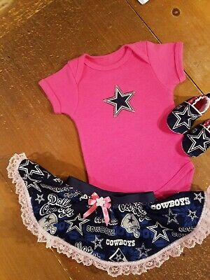 Baby Girl Dallas Cowboys (Dallas Cowboys Baby Girl 3 Piece Tailgating Outfit Baby Tailgating 12-18 Pink)