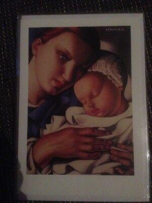 7 x Mutter und Kind, T. De Lempicka, Karte mit Umschlag, Zur Geburt/ Taufe, Neu