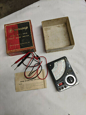 Vintage Monarch Volt Ohm Meter Model Mt-200 With Both And Instructions
