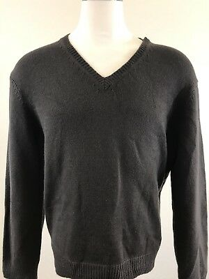 Michael Kors Dark Brown Long Sleeve V-Neck Sweater Size XLarge
