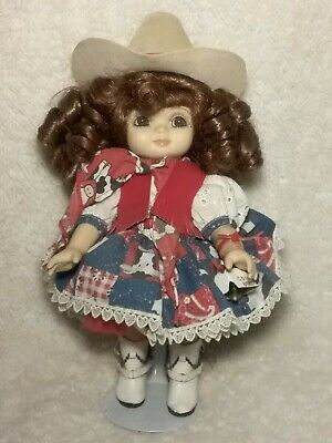 "Marie Osmond Adora Belle 1999 Cow Belle 9"" Vinyl Doll with Doll Stand"