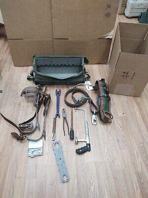 Buckingham Utilty Lineman Pole Climbing Gear Kit Spikes Belt Safety Strap Bag 1
