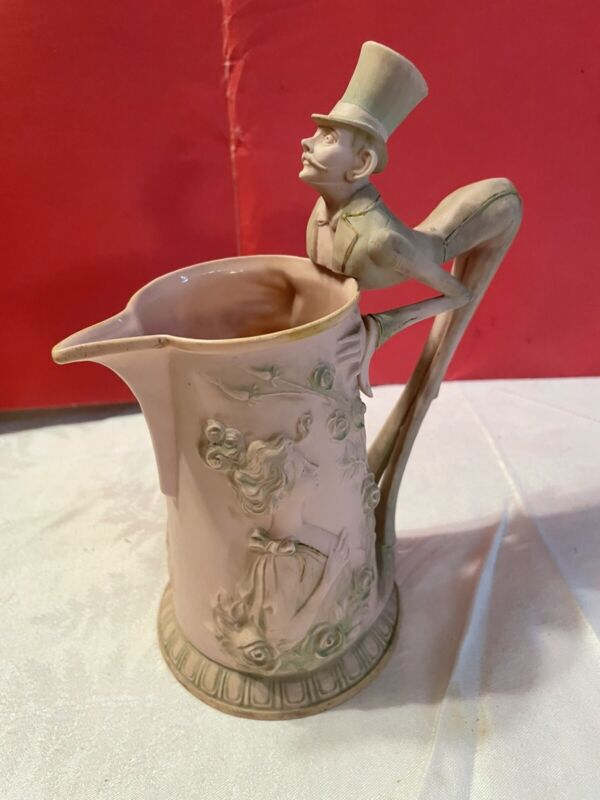 "Schafer & Vater 7"" ""Bottom Up"" Antique Pitcher"