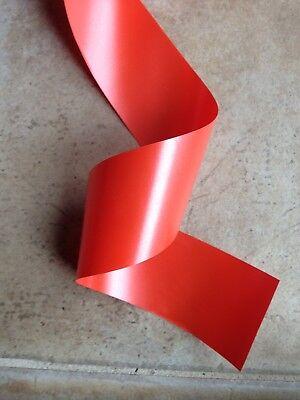- 5 Yards Orange Waterproof Polypropylene Ribbon 2 1/2