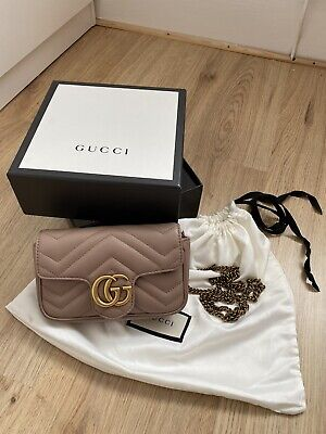 Gucci Dusty Pink Marmont Super Mini Bag RRP £700 (authentic)