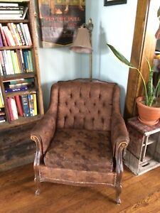 antique couch and arm chair