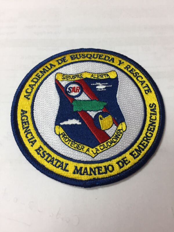 PUERTO RICO POLICE PATCH... EMERGENCY MANAGEMENT STATE AGENCY