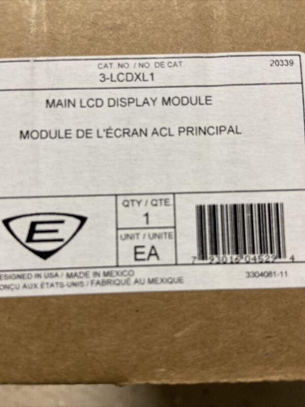 EDWARDS 3-LCDXL1, Display for main FACP or Remote Annunciator