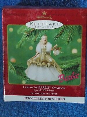 New 2000 Hallmark Celebration Barbie Doll Ornament