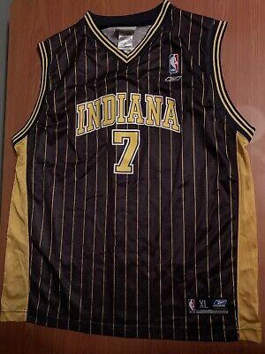 NBA Indiana Pacers Jermaine O'Neal Reebok Jersey Youth Sz XL 18-20 PinStripe