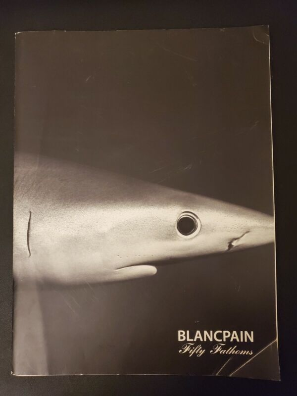 RARE BLANCPAIN book FIFTY FATHOMS edition 2008 I Ernest brooks blue in profile