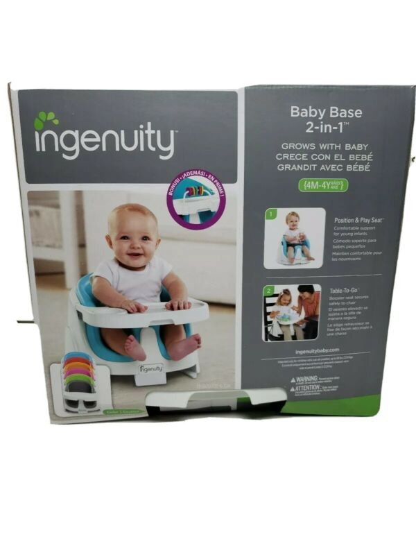 Ingenuity Baby Base 2-in-1 Seat Booster Feeding Seat
