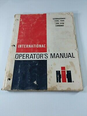 International Operators Manual Oem Combines 1440 1460 1480 Issue 21983