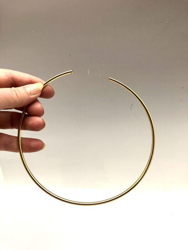 Vintage Gold Plated Necklace Collar Omega