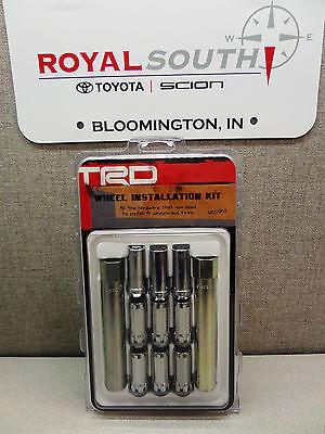 Genuine Toyota TRD Wheel Lock Lug Set 14mm Conical Spline Drive 07-16 CRUISER