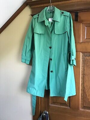 GAP JACKET SOLID GREEN WOMENS SIZE M TRENCH COAT New for sale  Shipping to India