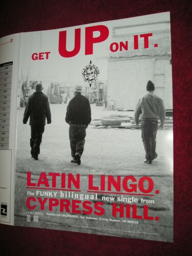 CYPRESS HILL - 1992 US Full-Page Ad